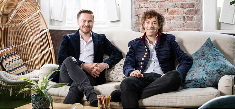 Calm Co-founders Alex Tew (left) and Michael Acton Smith.