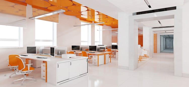 open-plan office cons