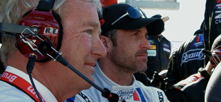 Hurley Haywood (left), and Patrick Dempsey.